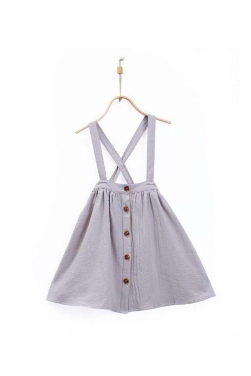 Emma Skirt Iron Grey 1