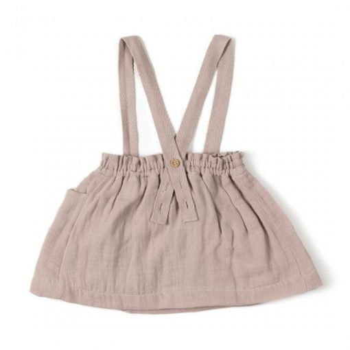 Strap Skirt Old Pink back