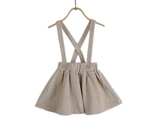 Alma Skirt Ecru Corduroy 01
