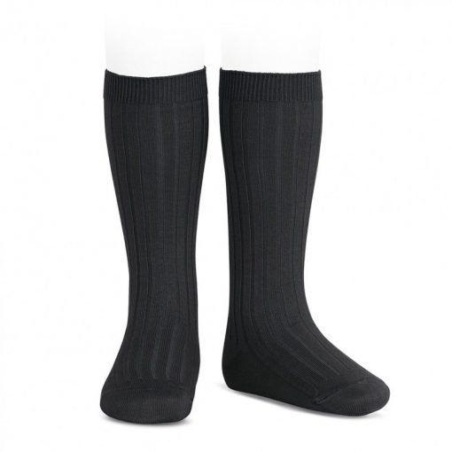 calcetines altos basicos canale negro