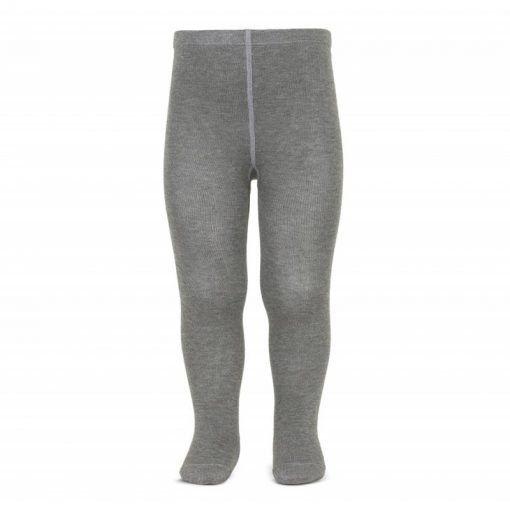 leotardos basicos punto liso gris claro