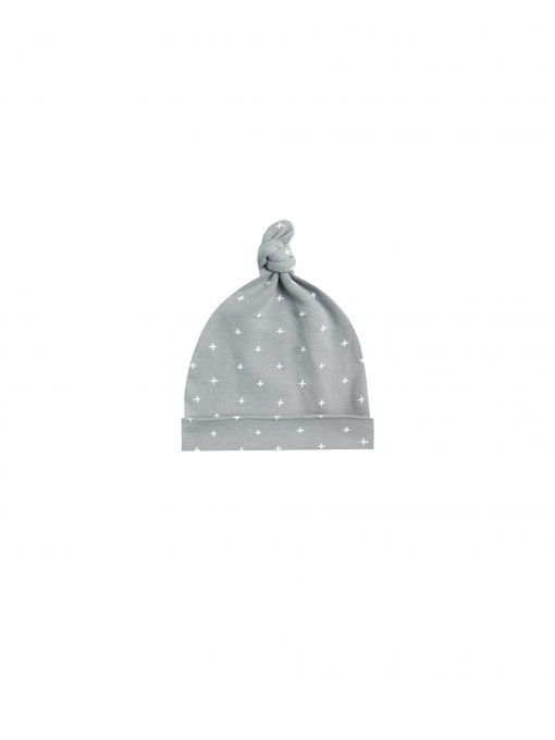 Knotted Baby Hat Dusty Blue ws