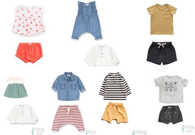 conjuntos de moda infantil primavera verano
