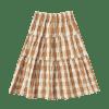 1 Tiered Midi Shirt Cinnamon Check Rylee Cru Little Gatherer 800x