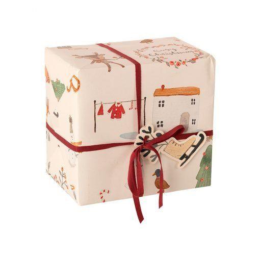 papel de regalo cosy christmas blanco 10m