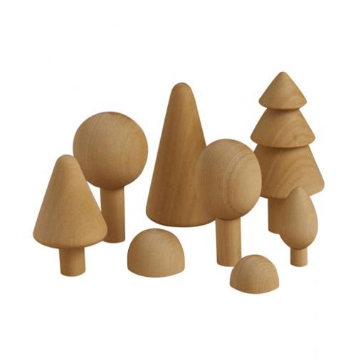 Raduga grez wooden toys milka interiors forest set natural 1
