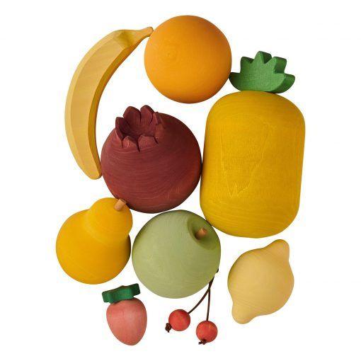 set de frutas de madera 1