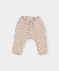 pantalon bebe jacquard
